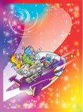 Voo espacial Imagem de Stock