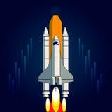 Voo espacial Imagens de Stock Royalty Free