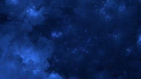 Voo espacial através da nebulosa espiral