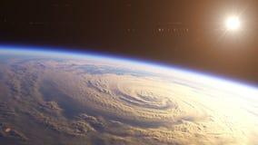 Voo espacial sobre a terra filme