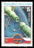 Voo espacial Soviete-checo foto de stock