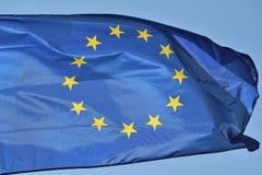 Voo europeu da bandeira imagem de stock