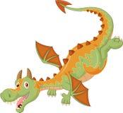 Voo feliz do dragão dos desenhos animados Imagens de Stock