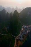 Voo III do balão de Yangshuo Imagens de Stock