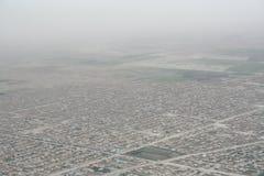 Voo pelo ar a Maimana em Afeganistão Imagem de Stock