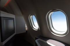 Voo por aviões da classe executiva fotografia de stock royalty free
