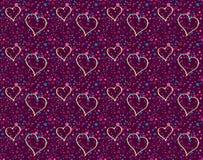 Voo romântico dos corações Fotografia de Stock Royalty Free