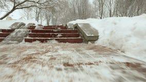 Voo sobre as escadas Stabilazer profissional usado da suspensão Cardan vídeos de arquivo