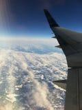 Voo sobre Canadá oriental Foto de Stock