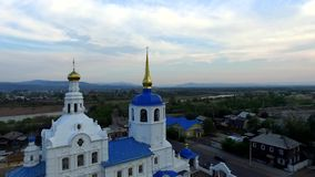 Voo sobre a catedral em Ulan-Ude, Buriácia vídeos de arquivo
