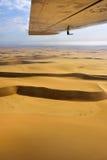 Voo sobre o deserto de Namib Foto de Stock Royalty Free