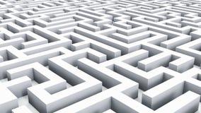 Voo sobre o labirinto infinito ilustração do vetor