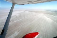 Voo sobre o Sul da Austrália de Eire do lago fotos de stock