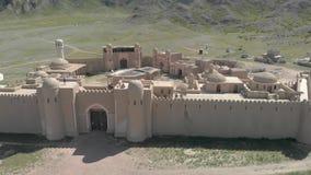 Voo sobre os telhados do castelo dos nómadas video estoque