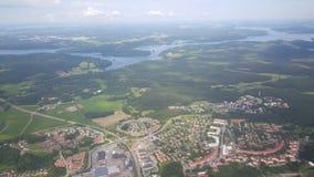 Voo sobre a Suécia fotografia de stock