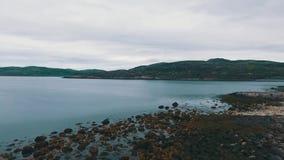 Voo sobre a tundra e os lagos Península de Kola, Rússia filme