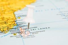 Voo a Sri Lanka Foto de Stock Royalty Free