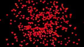 Voo vermelho dos corações da animação ilustração royalty free