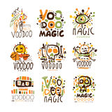 Voodoo African and American magic set for label design. Spiritual, magical, cultural vector Illustrations Royalty Free Stock Photos