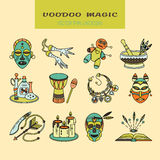 Voodoo African and American magic vector logo. Stock Photography