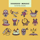 Voodoo African and American magic vector logo. Royalty Free Stock Photo