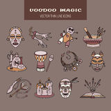 Voodoo African and American magic vector logo. Royalty Free Stock Images