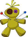 Voodoo doll. On a white background, vector vector illustration