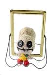 Voodoo doll. Cute voo doo doll handmade Stock Images