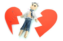 Voodoo doll boy Stock Images