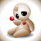 Voodoo Doll Cartoon in Love Royalty Free Stock Photo