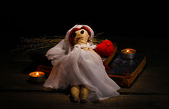Voodoo doll girl-bride Stock Images