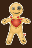 Voodoo doll. Terrible black magic voodoo doll. Stock Photography