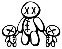 Voodoo Doll Twins Parent Royalty Free Stock Photo