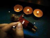 voodoo för 2 docka Arkivbilder