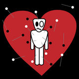 Voodoo on heart background Royalty Free Stock Image