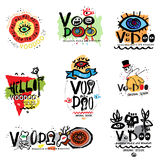 Voodoo illustration and logo. Stock Image