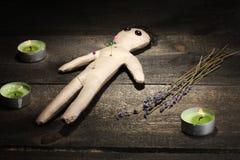 Voodoo o menino da boneca Fotografia de Stock Royalty Free