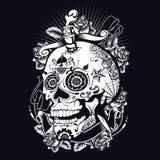 Voodoo Sugar Skull Royaltyfri Fotografi