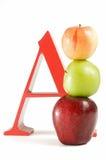 A is voor Appel Stock Afbeelding