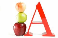A is voor Appel Stock Fotografie