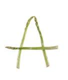 A voor Asperge Royalty-vrije Stock Foto's