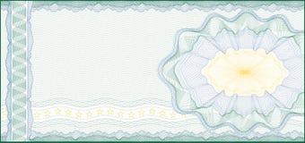 Voor Bon, het Certificaat, de Coupon of het Bankbiljet van de Gift royalty-vrije illustratie