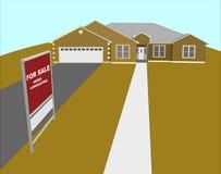 Voor de Illustratie van het Huis van de Verkoop vector illustratie