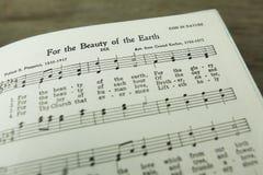 Voor de Schoonheid van de Aarde Christian Hymn door Folliott S Pierpoint royalty-vrije stock foto