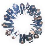 Voor een witte achtergrond, het werkingsgebied van het commerciële team dat condu Stock Foto's
