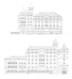 Voor en achtermening van een gebouw Royalty-vrije Stock Afbeelding