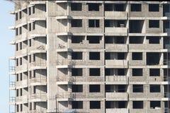 Voor en zijaanzicht van bouw de bouwdeel Stock Fotografie