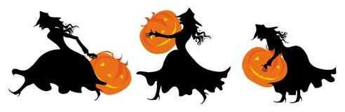 Voor Halloween de partij van pompoenen Stock Afbeeldingen