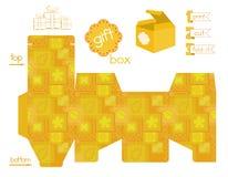 Voor het drukken geschikt het Lapwerkpatroon van de Giftdoos vector illustratie