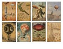 Voor het drukken geschikt Markeringsblad - Uitstekende Luchtschipefemere verschijnselen - Verontruste Markeringen - Voor het druk royalty-vrije illustratie